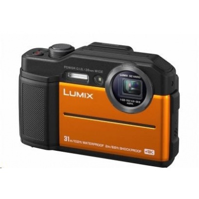 "Panasonic DC-FT7EP-D orange  (20,4 Mpx, 4,6x zoom, 3"" LCD,LVF, 4K video, vodotesný)"
