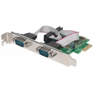 MANHATTAN Serial PCI Express Card, Two DB9 ports