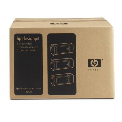 HP 90 Magenta DJ Ink Cart, 400 ml, 3-pack, C5084A